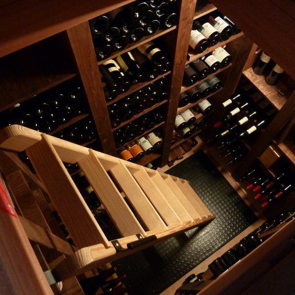 The Wine Cellar Buried In Wooden Frame By Polycave In All La