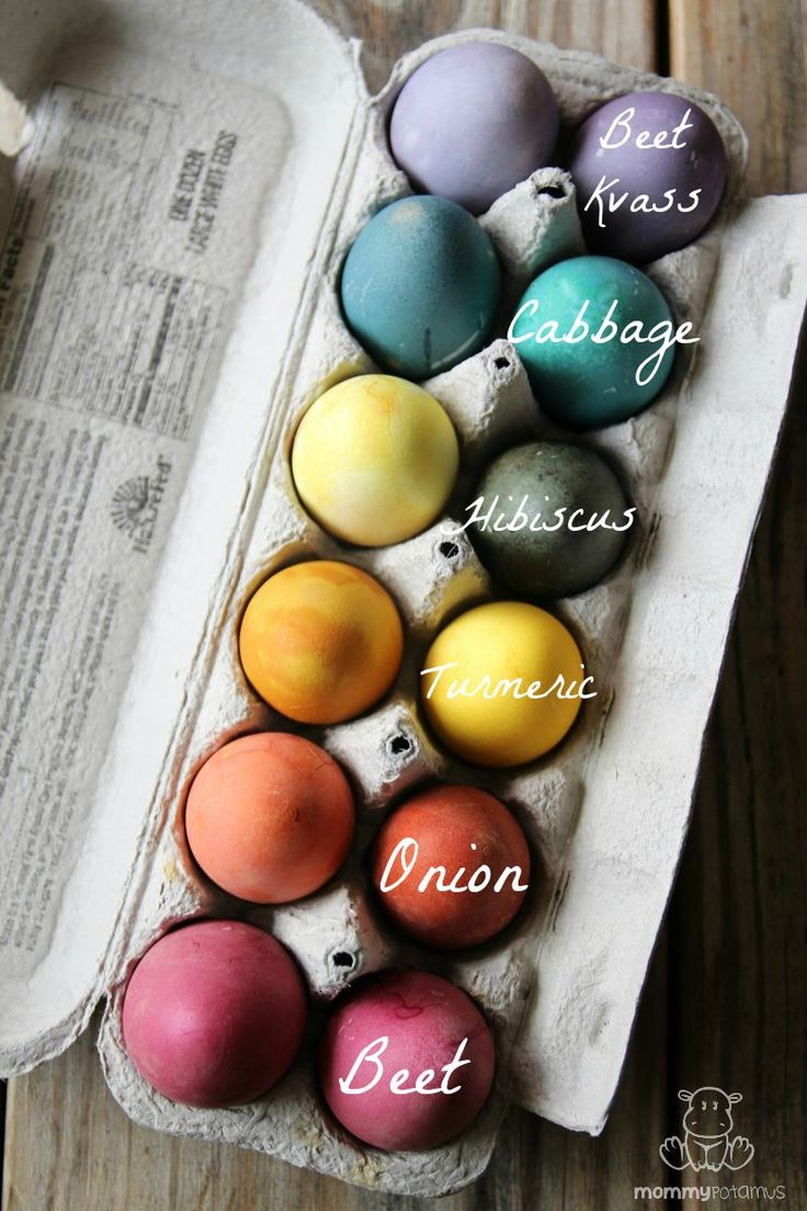 After experimenting with everything from lemon peels and carrots to raspberries and grape juice, #Mommypotamus has put together a list of everyday ingredients that consistently yield beautiful, vibrant colors. Here's how to dye Easter eggs naturally . . .