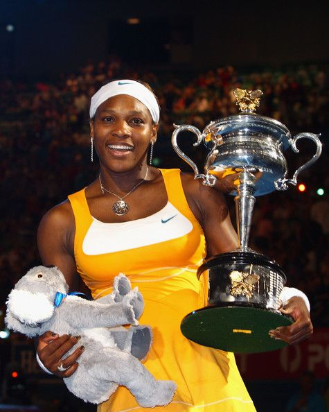 SLAM #12: 2010 Australian Open Champion Serena Williams ... Serena won her 5th Title as Defending Champion. It's a celebratory scene we have loved since 1999, when Serena Williams won her first Slam singles title at the US Open at the age of 17.  Serena is playing better than ever. #TeamSerena