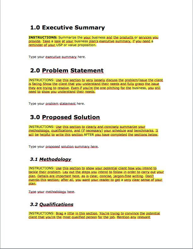 The 25+ best Business proposal format ideas on Pinterest - executive summary format template