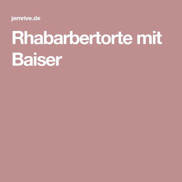 Rhabarbertorte mit Baiser