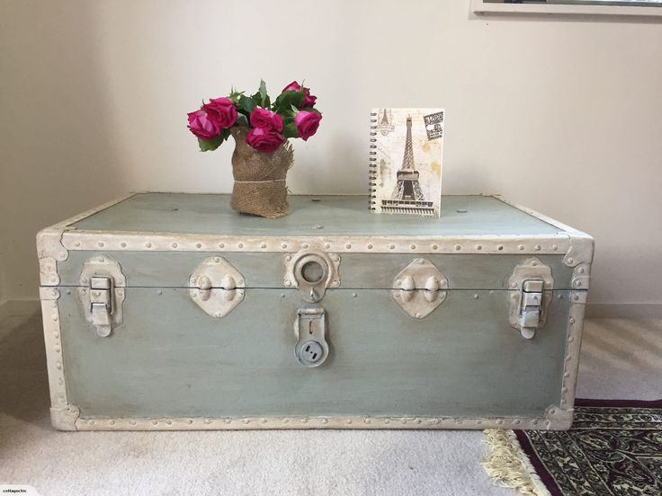 Vintage Shabby Chic Trunk Coffee Table Trade Me