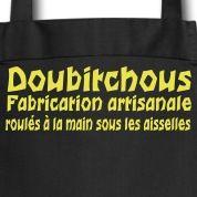 Motif tablier de cuisine: Doubitchou, fabrication artisanale roulés à la main sous les aisselles