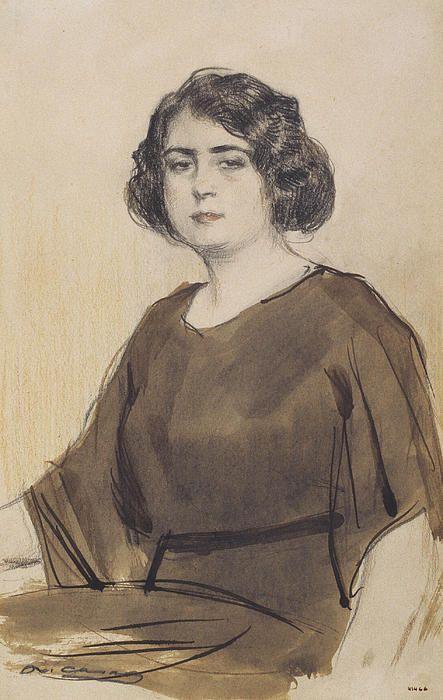 Portrait Of Julia Peraire  Ramon Casas