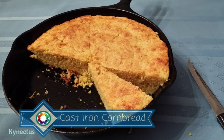Cast Iron Skillet Cornbread and I can't get enough!