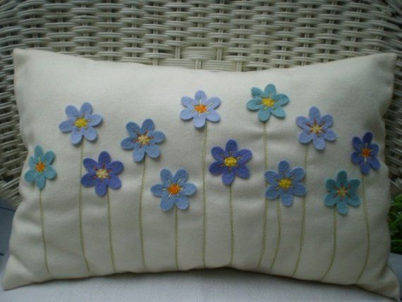 forget-me-not pillow