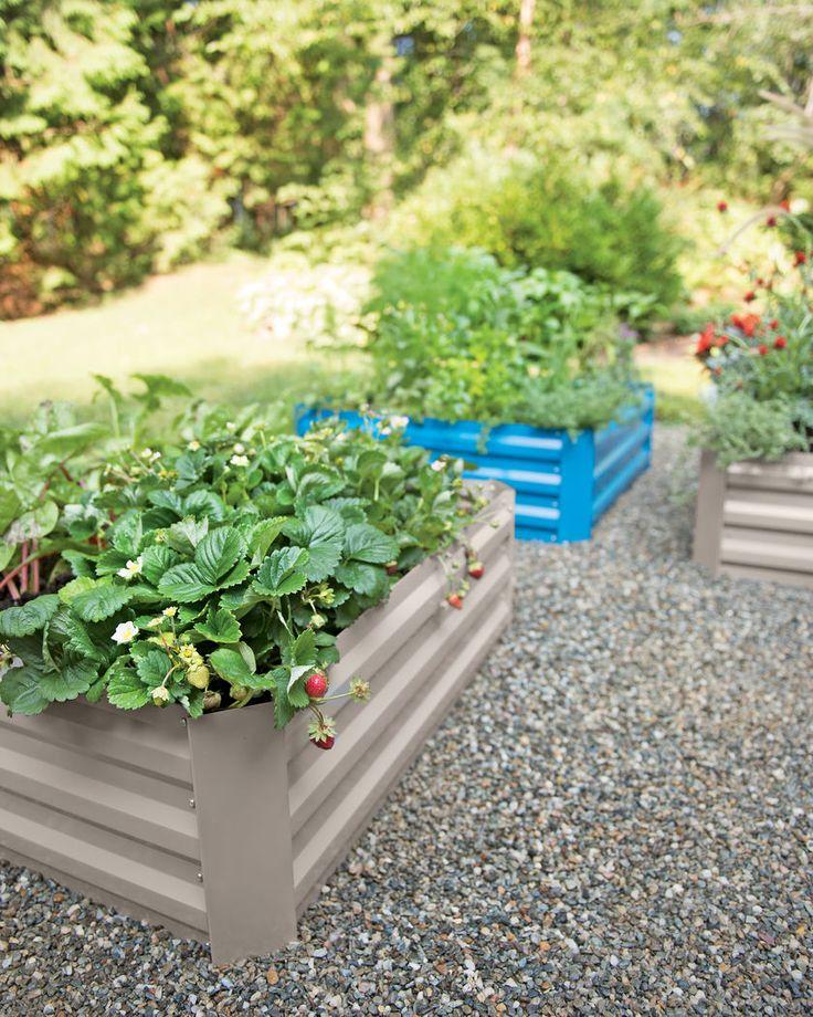 Kitchen Garden Box With Wire Top: $49.99 Corrugated Metal Garden Bed