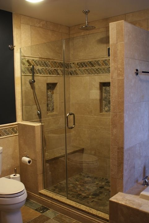 small bathroom glass shower ideas Awesome Small Bathroom Shower