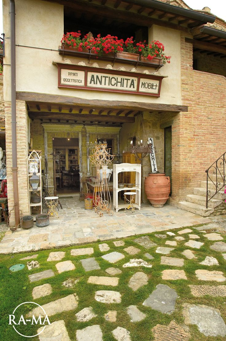 Our Antique Gallery in Tuscany, Italy.