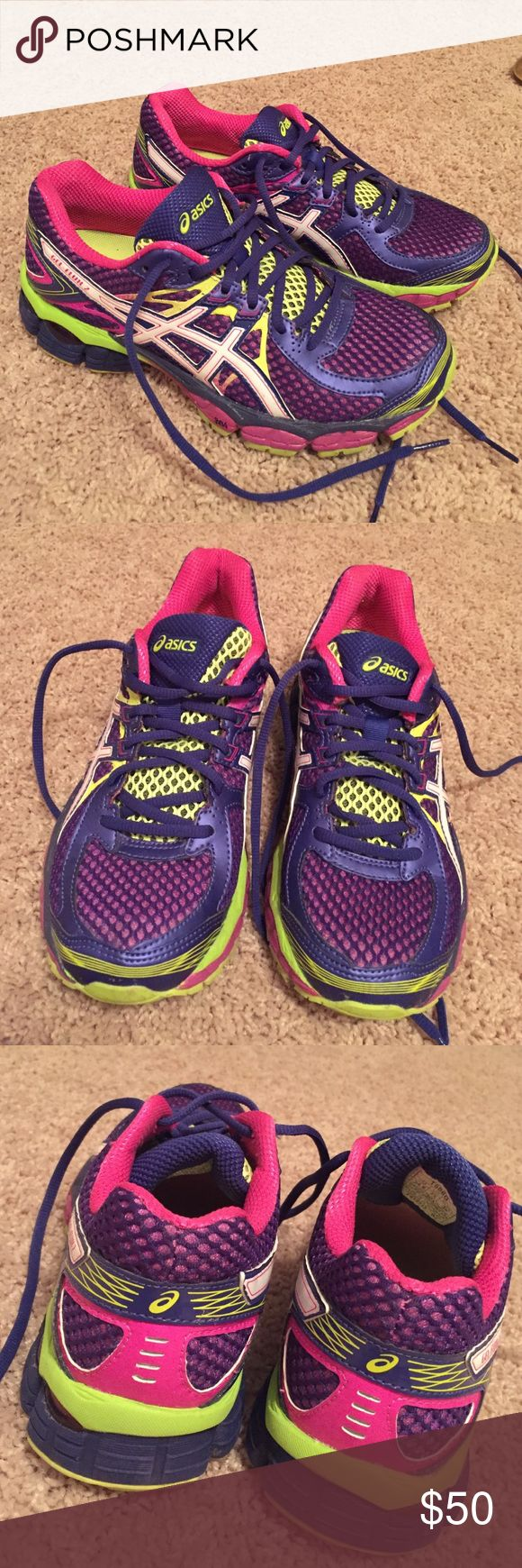 Asics Gel- Flux 2 Neon Sneakers!! Asics Gel- Flux 2 Neon Sneakers!! Size: 7.5 Women's!! Only worn ONCE!!! In perfect condition!!! These shoes are great for running!!! Do not come with original box! Asics Shoes Sneakers