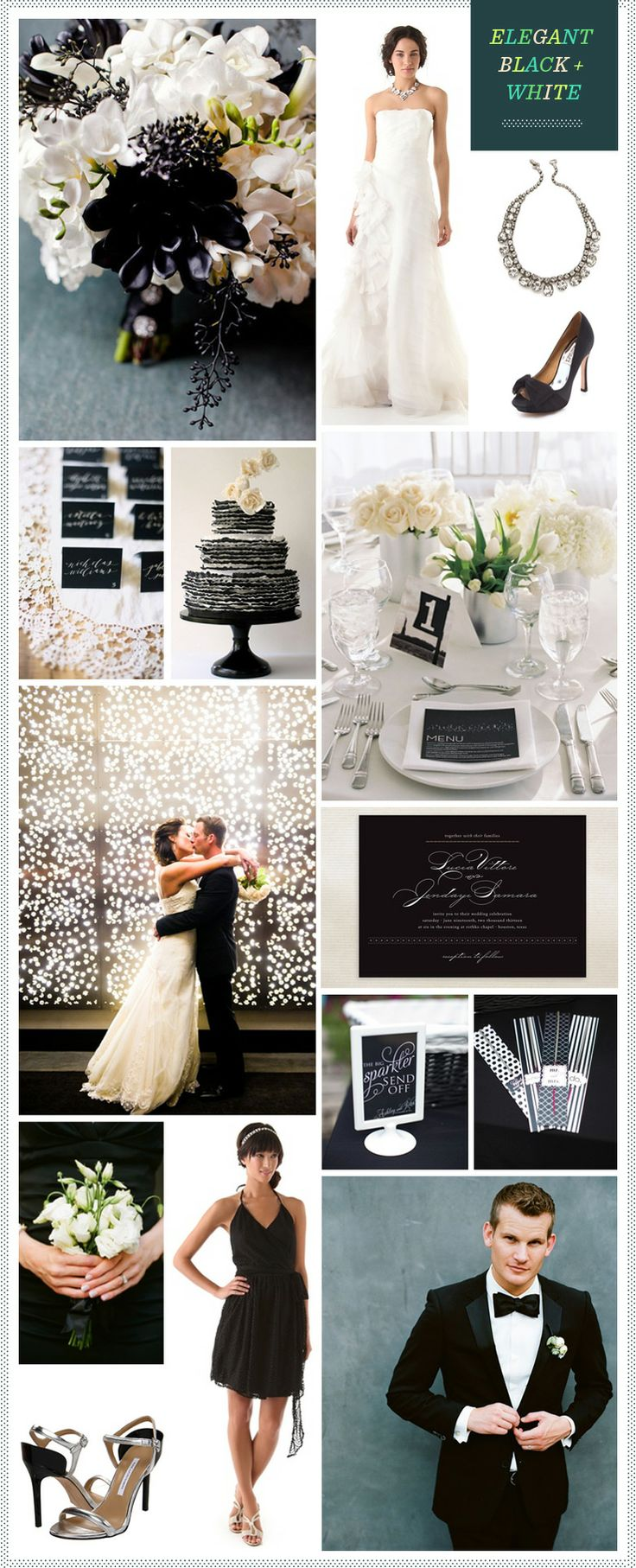 Black + White Wedding Ideas #Black & White wedding receptions ... Wedding ideas for brides, grooms, parents & planners ... https://itunes.apple.com/us/app/the-gold-wedding-planner/id498112599?ls=1=8 … plus how to organise an entire wedding, without overspending ♥ The Gold Wedding Planner iPhone App ♥
