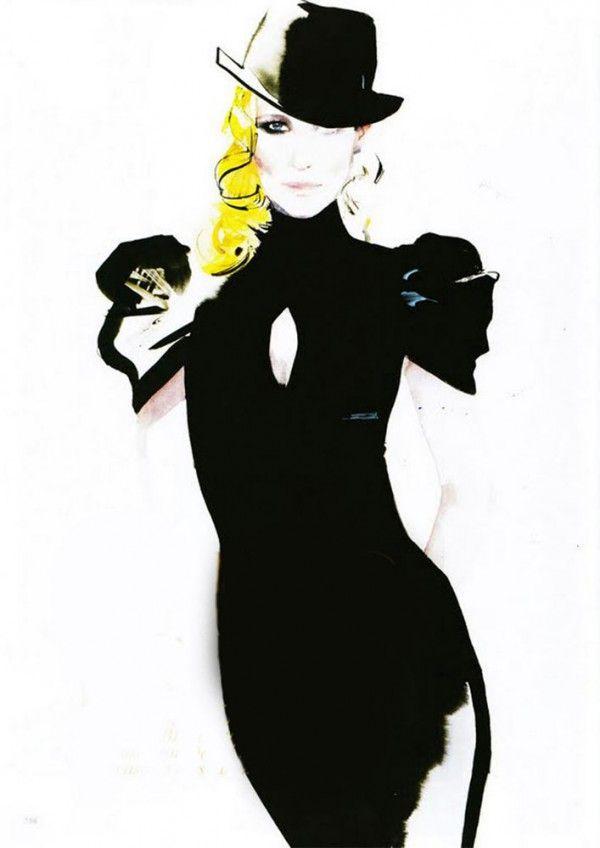 David Downton's fashion illustrations