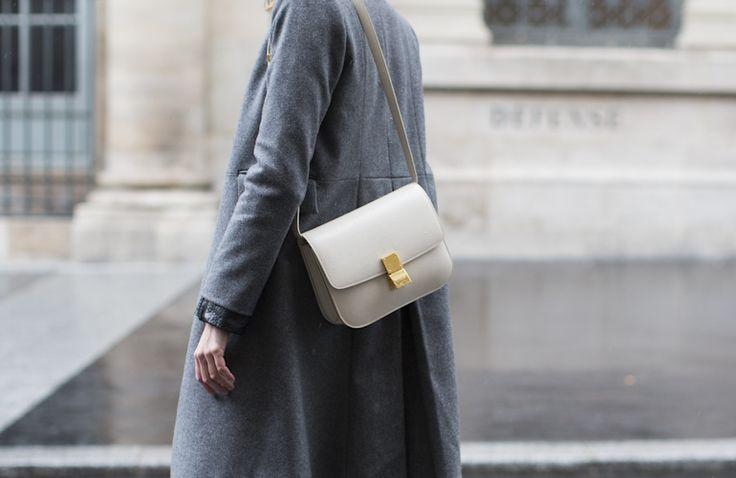 beige Leather C��LINE Handbag - Vestiaire Collective