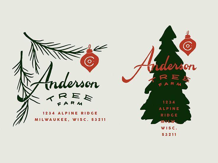 Anderson Tree Farm In 2020 Graphic Design Packaging Farm Logo Logo Design Typography