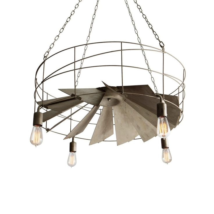 Industrial Light Fixtures Rustic Pendant Lighting See More Style Lighted Ceiling Fan