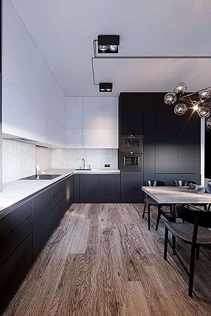 Schwarz Weiss Kuche 60 Enthusiastische Dekorationsmodelle Sitzbank Stauraum Flur Bank Design Landhausstil Dekorieren Lowboard In 2020 Kitchen Interior Home Decor Kitchen Modern Kitchen Design