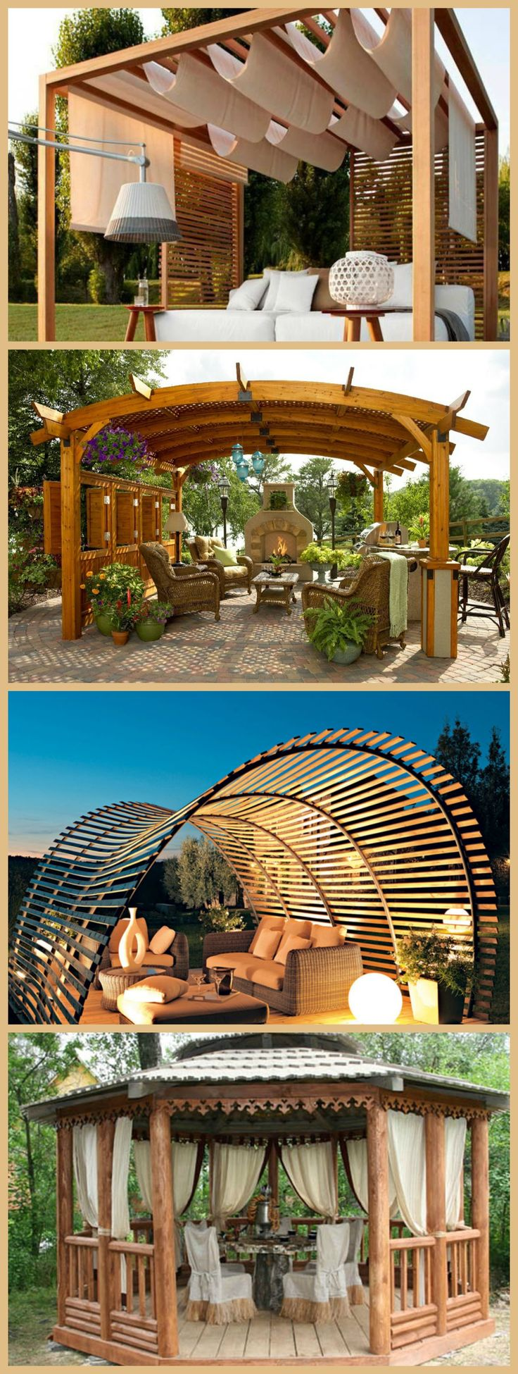 Custom trellis to match pergola landscapes by earth design - Unique Designer Pergolas Http Decoholic Org 2015 03 30