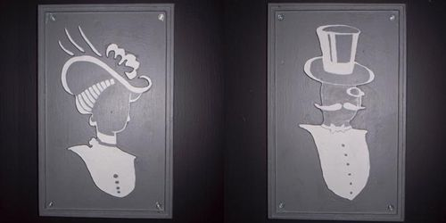 Victorian Bathroom Signs