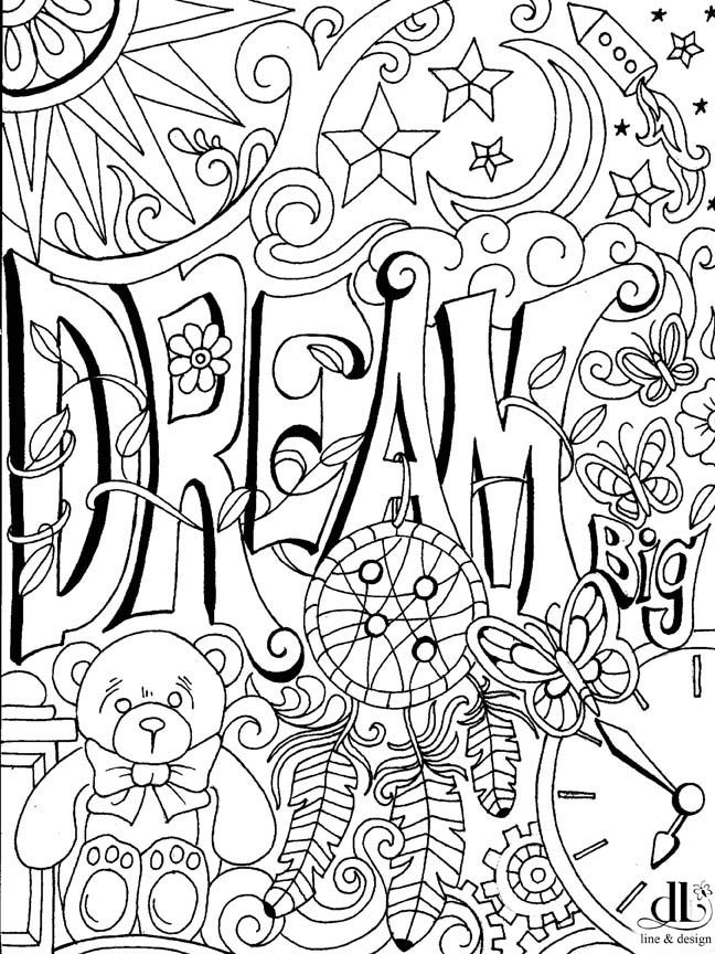 Free Dream Coloring Page Enjoy Color Art