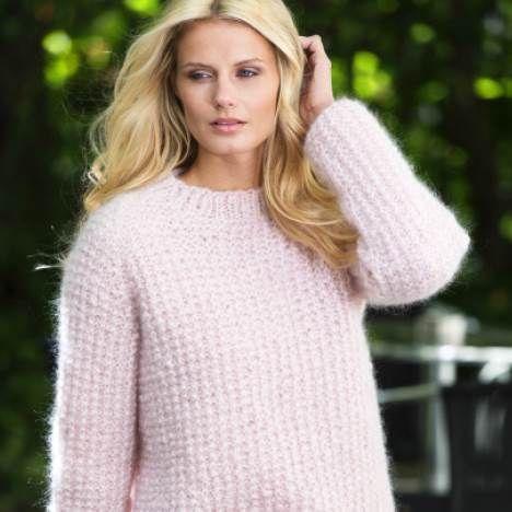 En lækker og hjemmestrikket sweater til den mere overskyet sommerdag.