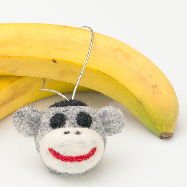 Available at the Designer Craft Shop: 1061 Marginal Rd. Halifax, Nova Scotia. Behind the Rail Car.   DIY 3D Sock Monkey Felting Kit by FELTasticFashion