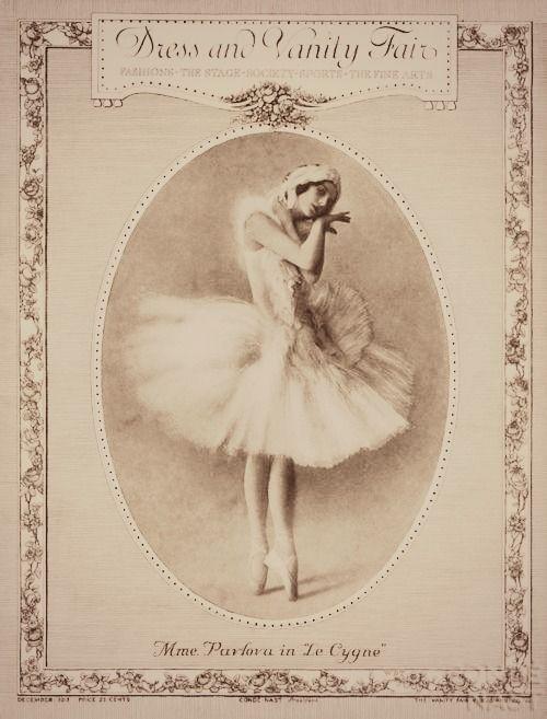 vanity fair ballerina pavlova in le cygne ballet