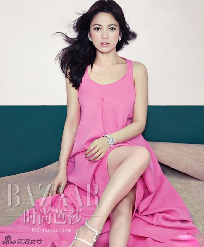 A Colorful Song Hye Kyo Shows Off Her Goddess-Like Beauty In Harper's Bazaar China's November 2014 Issue | Couch Kimchi