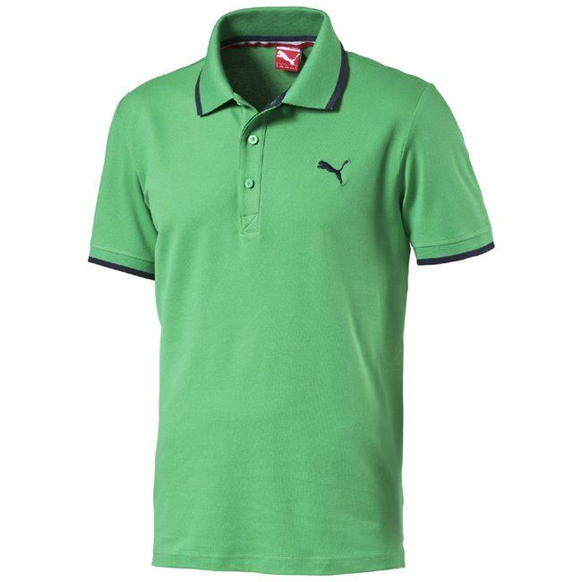 #PUMA #FUN Pique #Polo #Men #green #fashion  E-shop crish.cz