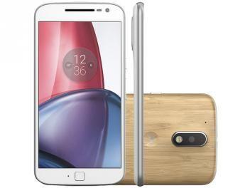 """Smartphone Motorola Moto G 4ª Geração Plus 32GB - Branco Dual Chip 4G Câm 16MP + Selfie5MP Tela 5.5"""""""
