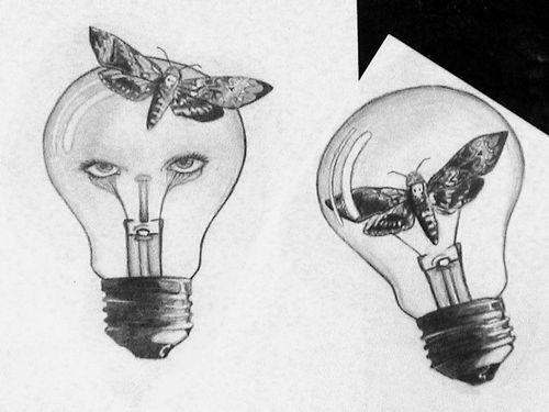 Lightbulb Moth Tattoo Idea 8531 Santa Monica Blvd West Hollywood, CA 90069 - Call or stop by anytime.