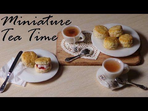 Tea Time; Miniature Tea, Tea bags & Scones - Polymer Clay Tutorial - YouTube