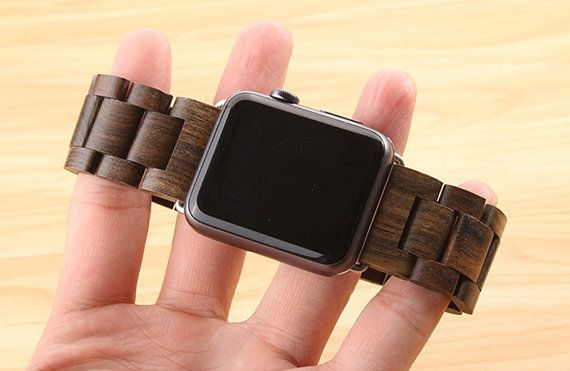 2016 For Apple Watch special wood watch band strap band for iWatch 42mm 38mm link bracelet wooden band butterfly buckle