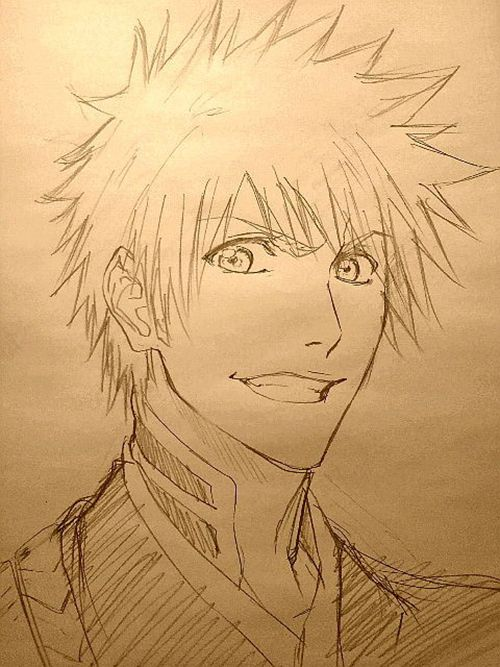 Anime/manga: Bleach Character: Ichigo, drawing of Ichigo. Who ever did this is good!