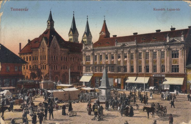 Timisoara - Piata Traian - Casa de Raport / Kossut Lajos-ter, 1915