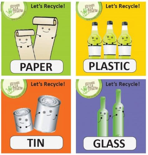 Super-cute recycling label printouts plus tons of other projects in this Earth Day project guide. http://www.greenkidcrafts.com/celebrate-earth-day/