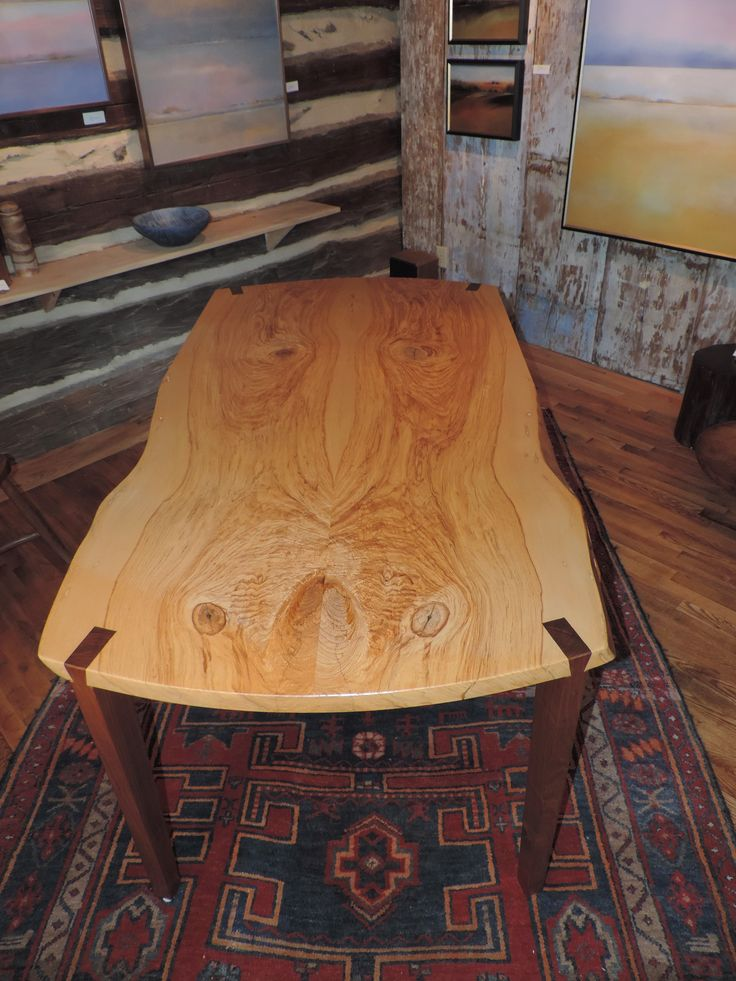 Elm Live Edge Table W Walnut Legs Jay Duvall Duvall
