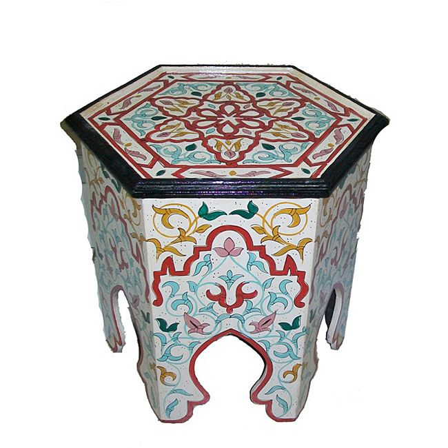 Bring a hint of exotic North African decor to your home with the rich colors and handcrafted quality of this handpainted Moroccan Wooden Screen. Handcrafted by skilled artisans in Morocco.