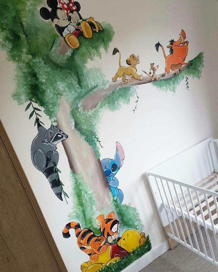 Muurschildering Wallpainting Kinderzimmer Kinderzimmer