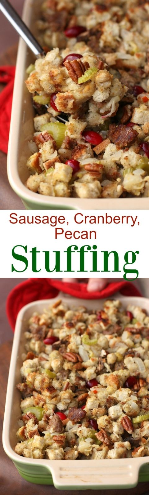 Sausage Cranberry Pecan Stuffing | Tastes Better From Scratch