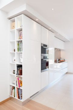 Ikea Billy Bookcase Kitchen Design Ideas, Pictures, Remodel and Décor end of counter pseudo built in?