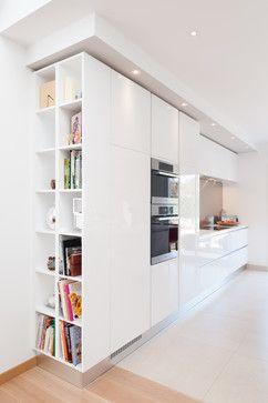 Cuisine design finition extrême blanc modèle sigma par Séverine KALENSKY - Contemporain - Cuisine - other metro - par Séverine Kalensky Architecte d' Intérieur
