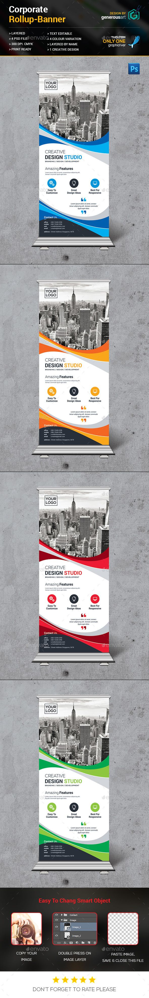 New Rollup Banner Template PSD #design Download: http://graphicriver.net/item/new-rollup-banner/14123522?ref=ksioks