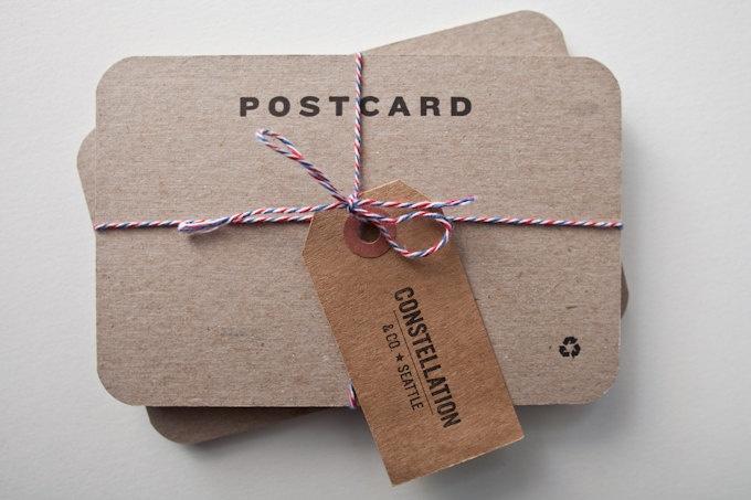 Blank letterpress postcards.