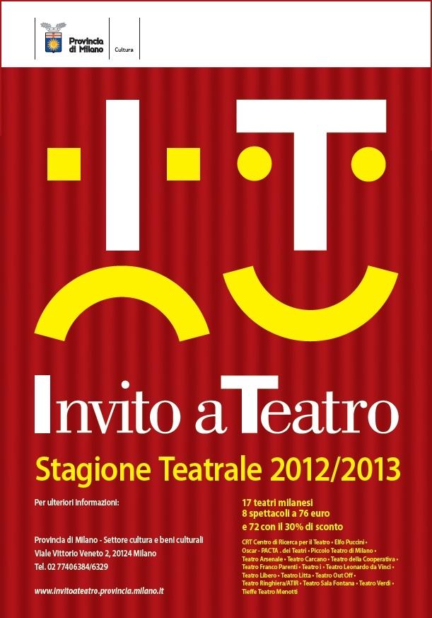 """""""Invito a Teatro"""", locandina 2012/2013"""