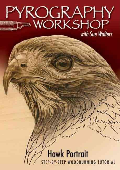 Pyrography Workshop With Sue Walters: Hawk Portrait, Step-by-step Woodburning Tutorial and Beginner's Guide