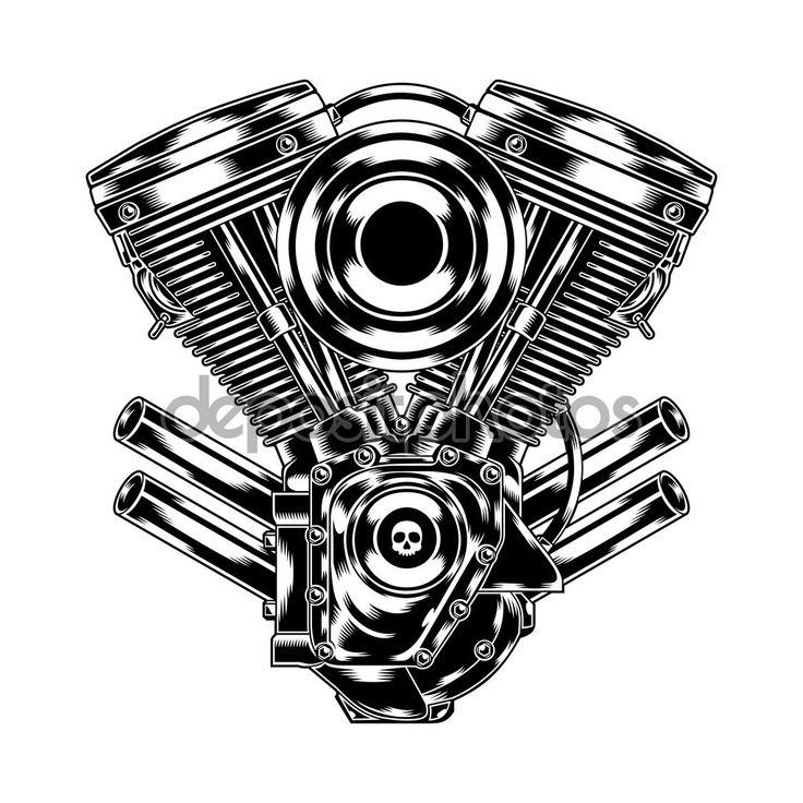 Baixar - Motor de moto — Ilustração de Stock #82045890