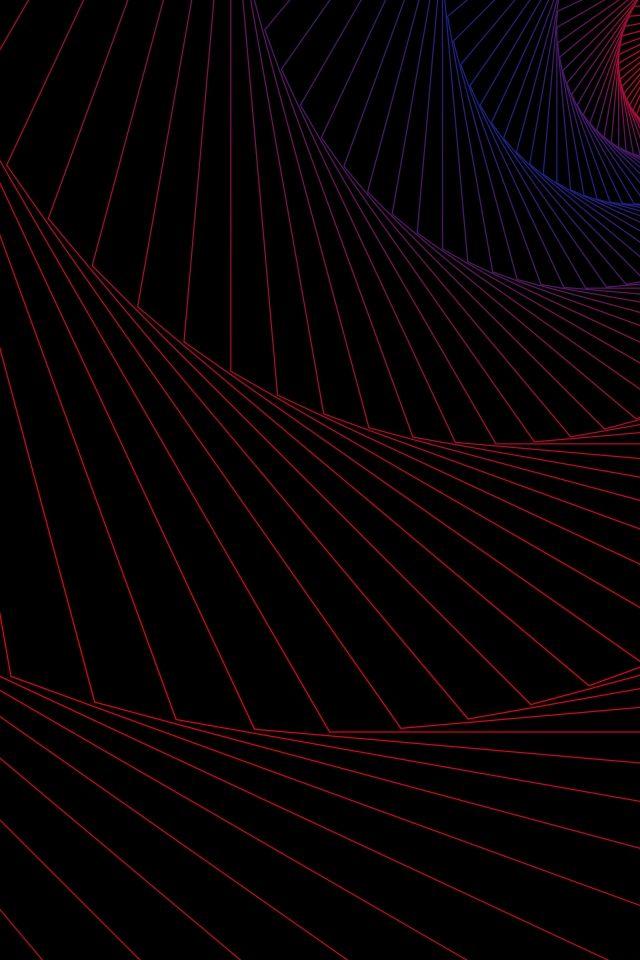 خلفية دوامة الأرجواني التدرج حلزوني التغيير التدريجي خط خلفية أسود جو بسيط Samsung Wallpaper Abstract Artwork Line Background