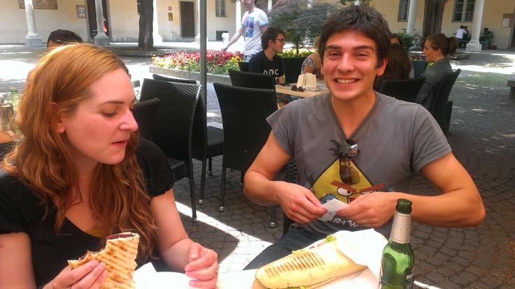 Buon appetito! perchè quello non manca mai, anche a Pavia! #italy4science