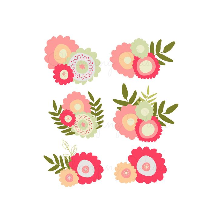 Flower Clipart Vector Flowers Wedding Colours Pattern Floral Border Wreaths Images Google Search