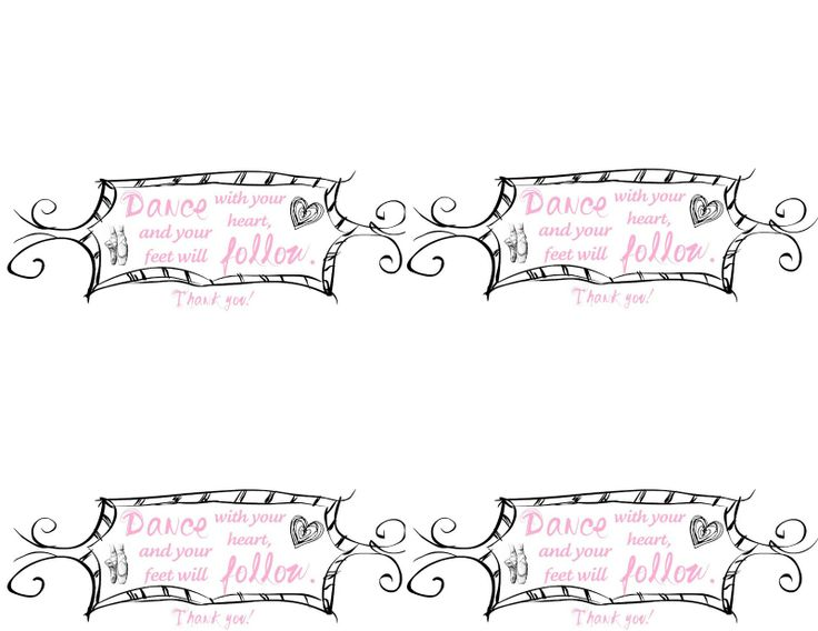 Family Ever After....: {Free Printables} Ballet Birthday Party